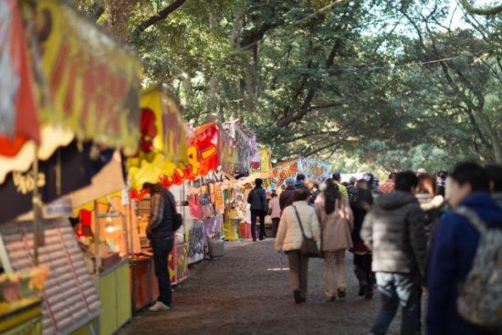 千葉神社 初詣 屋台